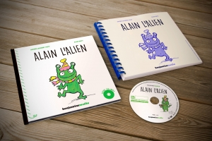 Alain l'Alien - coffret livre cd transcription braille