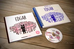 Edgar, livre CD avec transcription braille et gros caractères