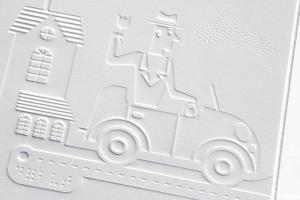 Pile Poil! - illustration en relief, embossage braille