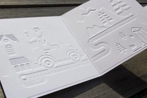 Pile Poil! - livre carré gaufré avec braille