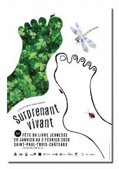 affiche Fête du livre Saint-Paul-Trois-Châteaux 2020
