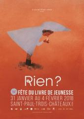 Affiche de la Fête du livre jeunesse 2018 de Saint-Paul-Trois-Châteaux
