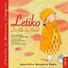 couverture livre CD  LETIKO LA FILLE DU SOLEIL