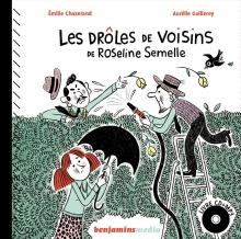 Les drôles de voisins de Roseline Semelle - livre CD